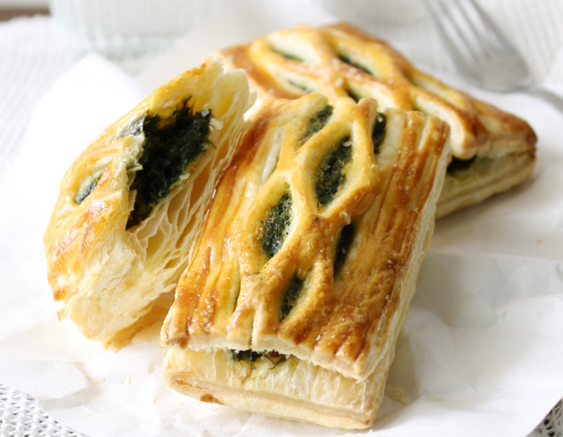Spinach and Fetta puff pastries